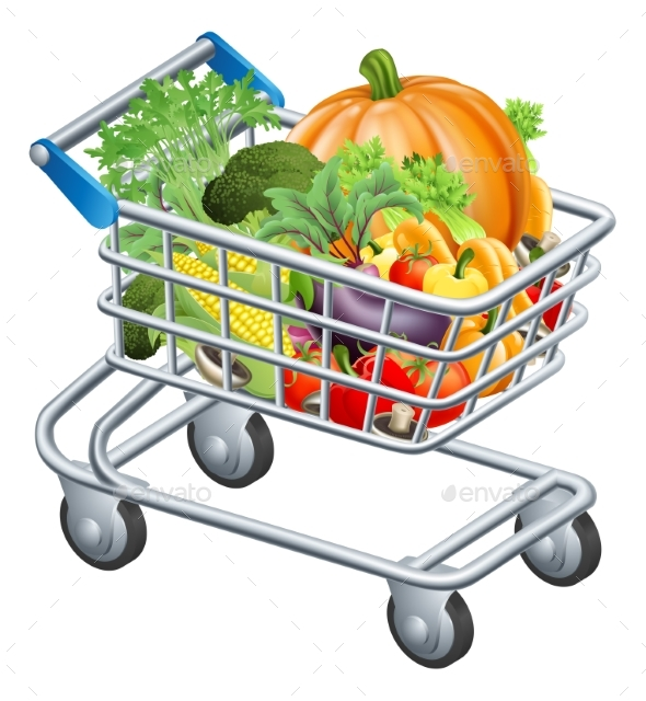 Vegetable Trolley - Food Objects