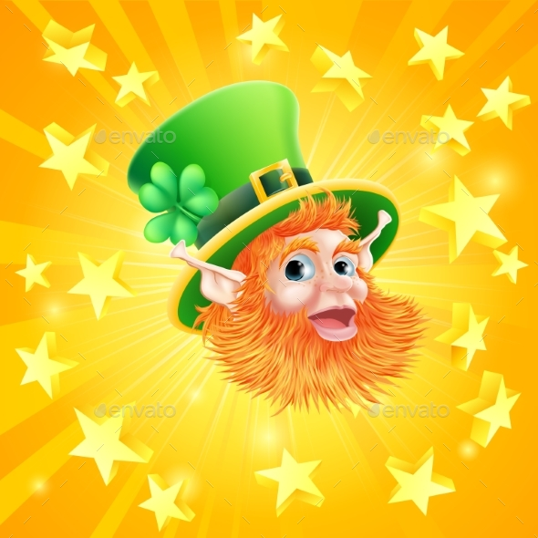St Patricks Day Leprechaun Background - Miscellaneous Characters