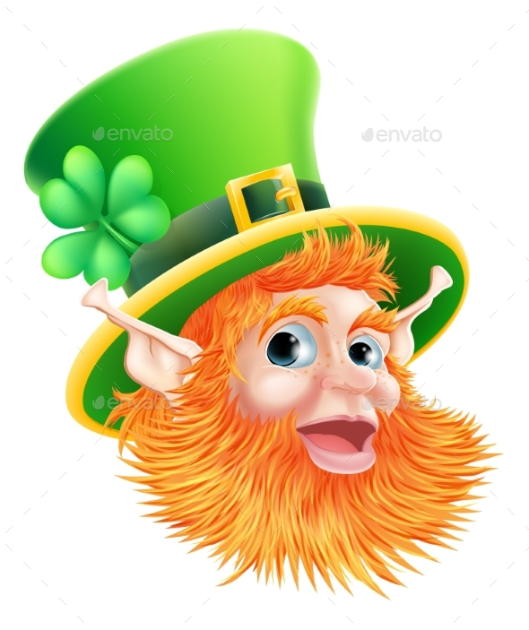 St Patricks Day Leprechaun Face - Miscellaneous Characters