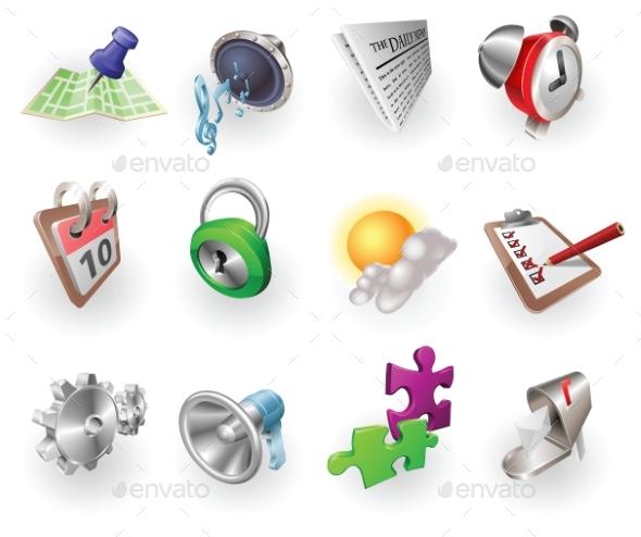 Dynamic Colour Web and Application Icon Set - Miscellaneous Vectors