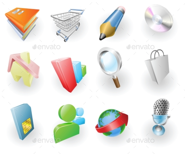 Dynamic Colour Web and Application Icon Set - Miscellaneous Vectors