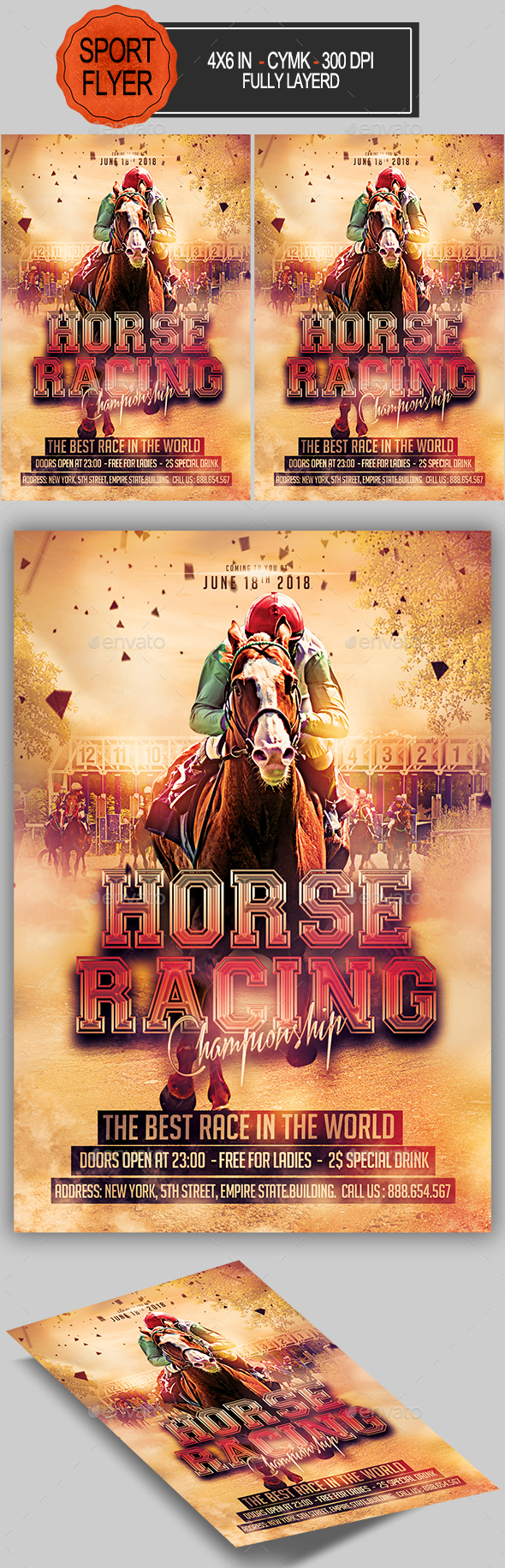 Horse Racing Championship Flyer - Sports Events
