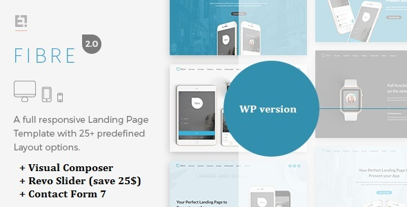 Fibre – App Landing Page WordPress Theme