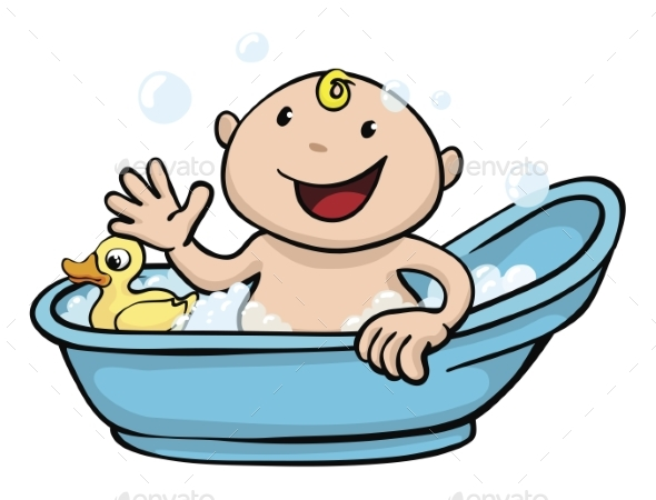Baby Bath Time - People Characters