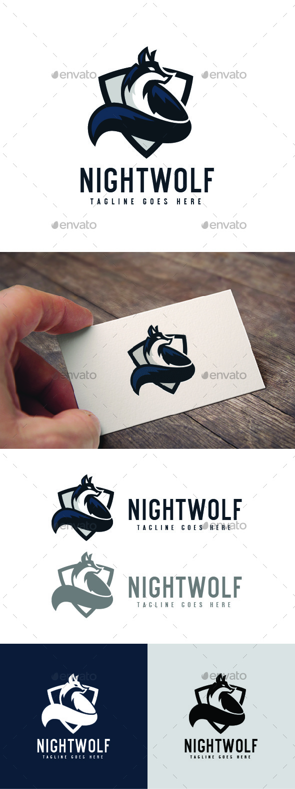 Night Wolf Logo Template - Animals Logo Templates