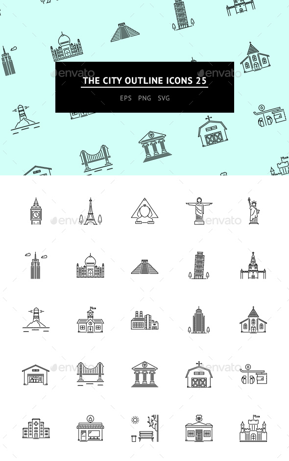 The City Outline Icons 25 - Web Icons