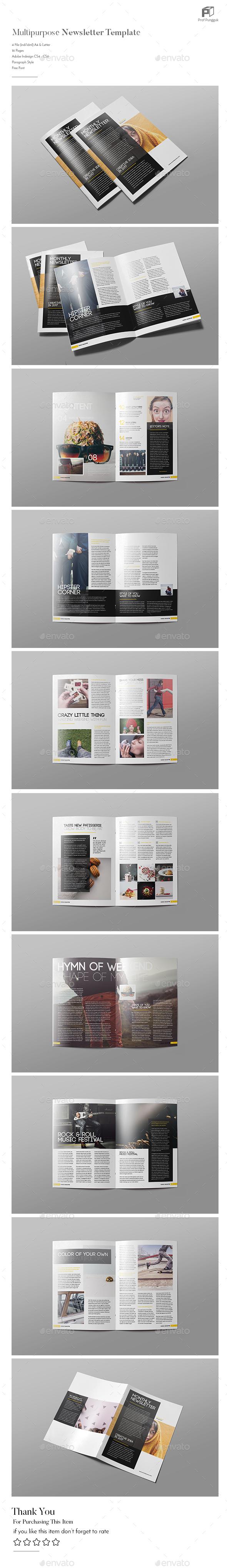 Multipurpose Newsletter  Vol.4 - Newsletters Print Templates