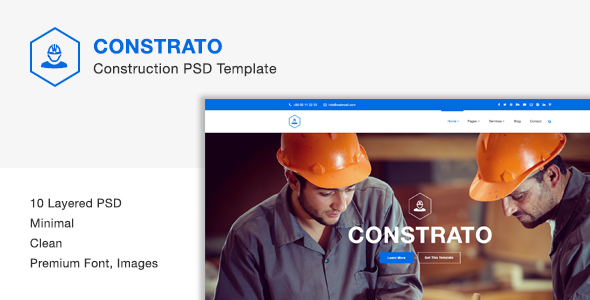Constrato Construction PSD Template