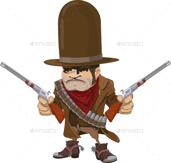 Cowboy Gunman with Rifles - People Characters