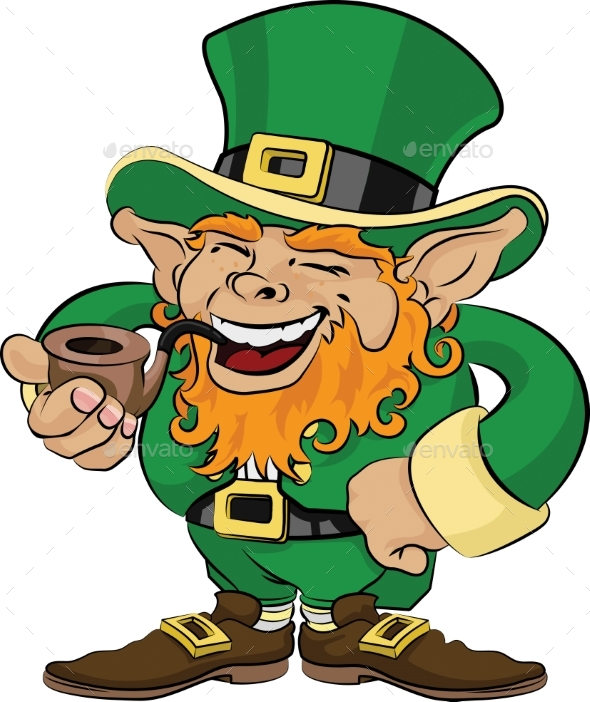 Illustration of St. Patrick's Day Leprechaun - People Characters