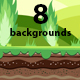 8 Game Backgrounds - GraphicRiver Item for Sale