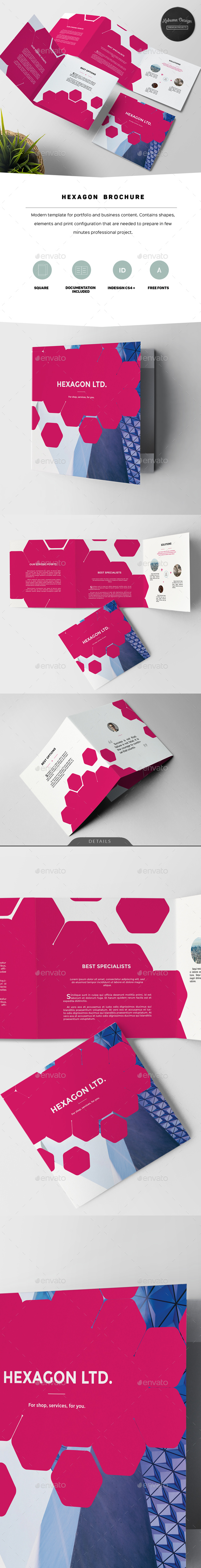 Hexagon Modern Brochure - Corporate Brochures