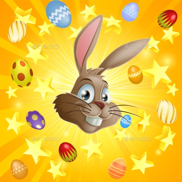 Easter Rabbit and Chocolate Eggs - Animals Characters
