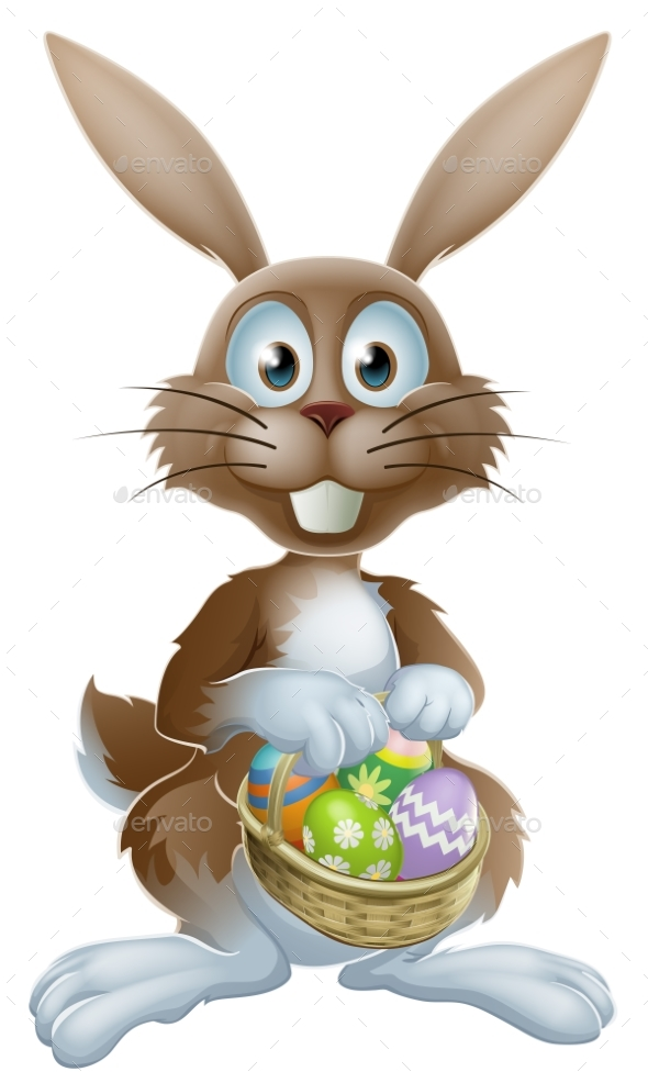 Easter Bunny with Chocolate Eggs - Animals Characters