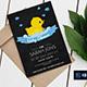 Chalkboard Rubber Duck Birthday Invitation - GraphicRiver Item for Sale