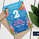 Under Sea Mermaid Birthday Party Invitation - GraphicRiver Item for Sale