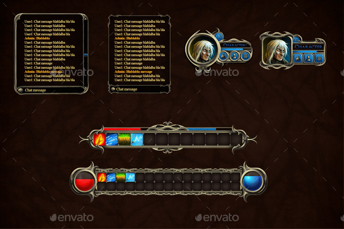 fantasy rpg user interface by craftpix net