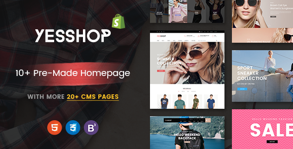 YESSHOP – Drag & Drop, Dynamic Responsive Shopify Theme – Ultimate Fashion, Supermarket, Minimal
