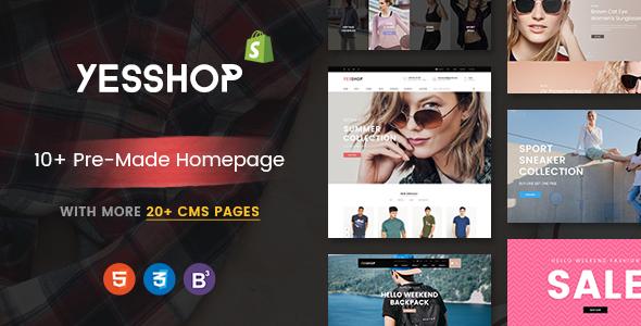 YESSHOP – Drag & Drop, Dynamic Responsive Shopify Theme – Ultimate Fashion, Supermarket, Minimal
