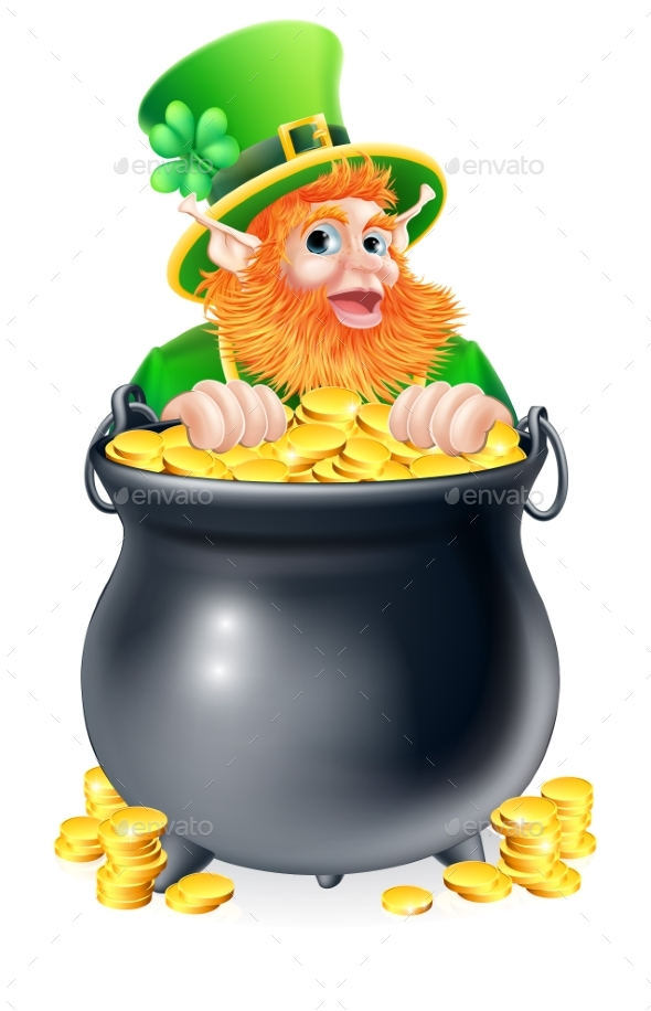 Leprechaun and Pot of Gold - Miscellaneous Characters