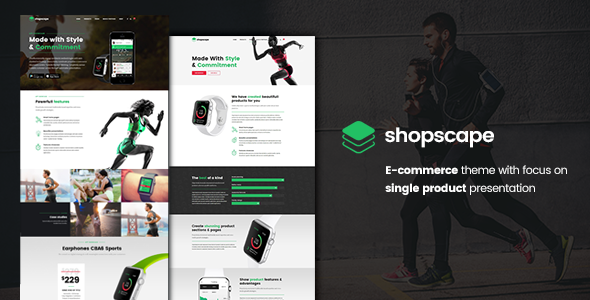 Shopscape - Single Product Wordpress Theme - WooCommerce eCommerce