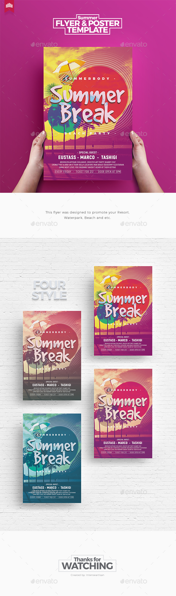Summer Break - Flyer Template - Clubs & Parties Events