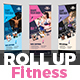 Fitness I Gym Roll-Up Banner