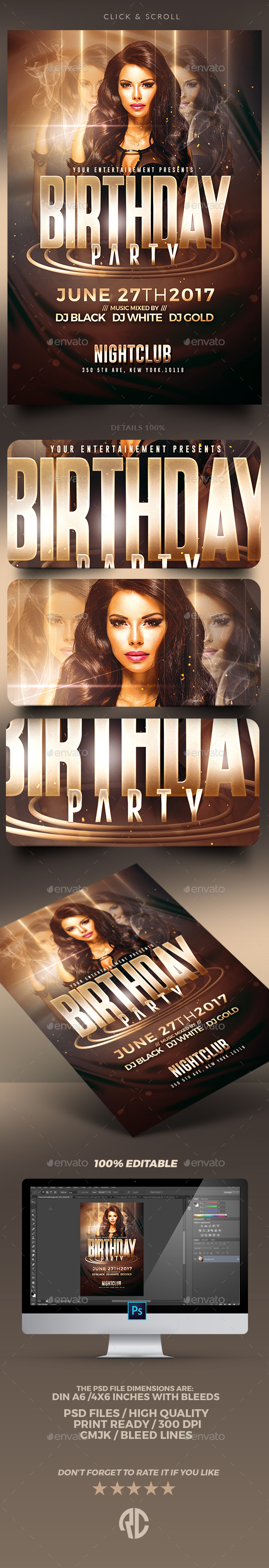 Birthday Party | Psd Flyer Templates - Clubs & Parties Events