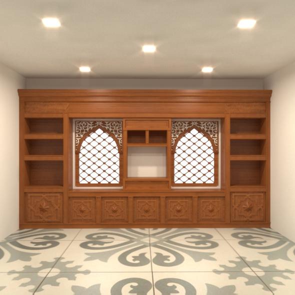 tv unit with mashrabeya - 3DOcean Item for Sale