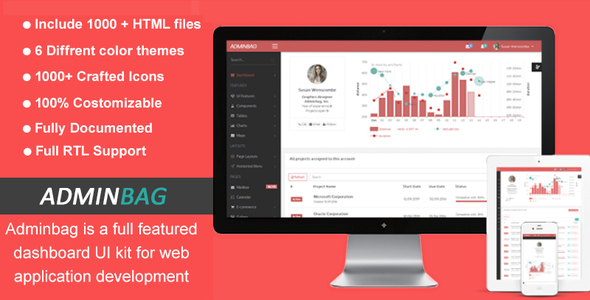 Admin bag – Admin Responsive Template &  Dashboard