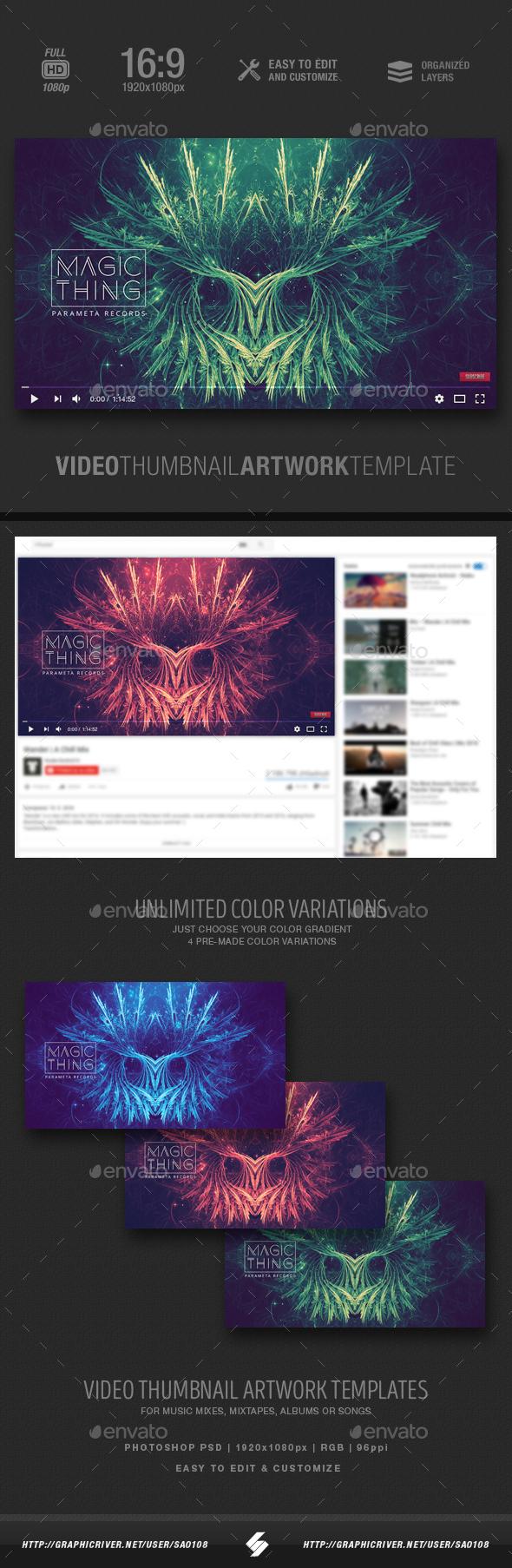 Magic Thing - Music Video Thumbnail Artwork Template - YouTube Social Media