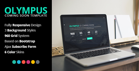 Olympus - Responsive Coming Soon Template - Under Construction Specialty Pages