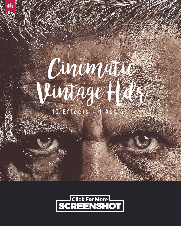 10 Cinematic Vintage HDR - Action - Photo Effects Actions