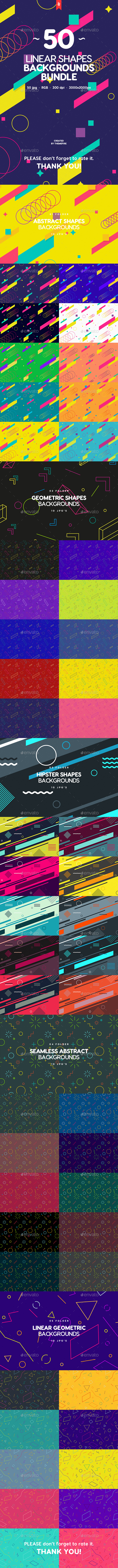50 Abstract Linear Shapes Backgrounds Bundle - Abstract Backgrounds