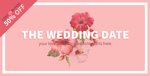 The Wedding Date – Responsive Wedding HTML Template