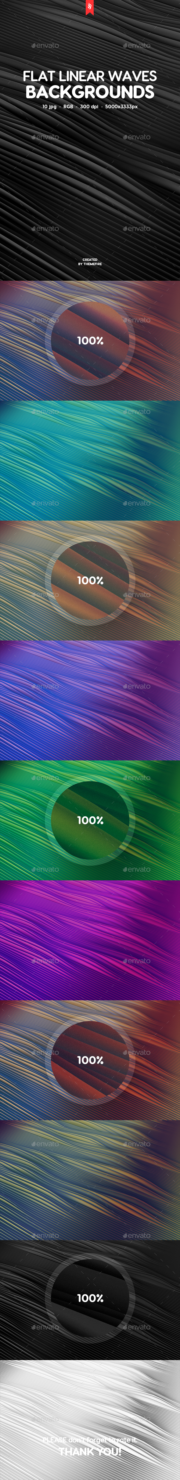 Flat Linear Waves Backgrounds - Abstract Backgrounds