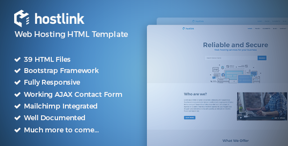 Hostlink - Web Hosting HTML Template - Hosting Technology