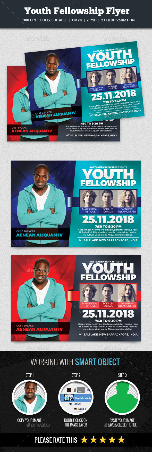 Youth Fellowship Church Flyer - Church Flyers