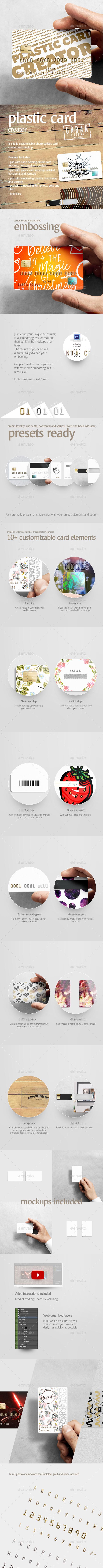Plastic Card Creator by rebrandy | GraphicRiver