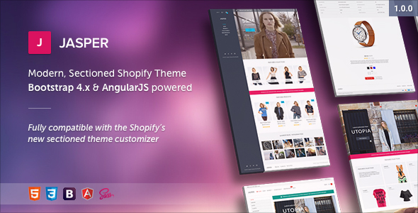 Jasper – Modern, Sectioned Shopify Theme