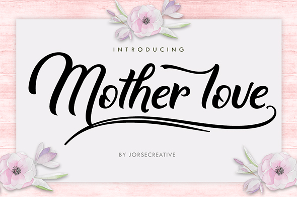 Mother love - Script Fonts