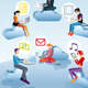 Cloud Computing Men Women And Icons - GraphicRiver Item for Sale