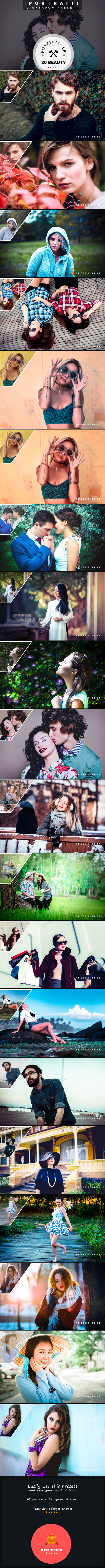 20 Beauty Portrait | Lightroom Presets - Portrait Lightroom Presets