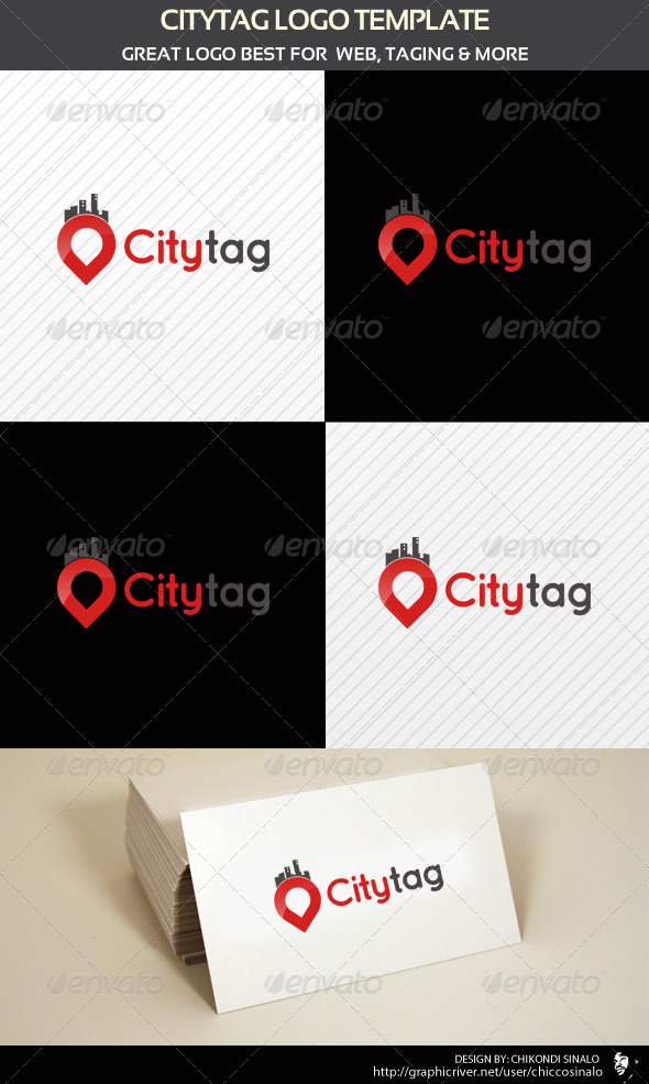 City Tag Logo Template  - Abstract Logo Templates