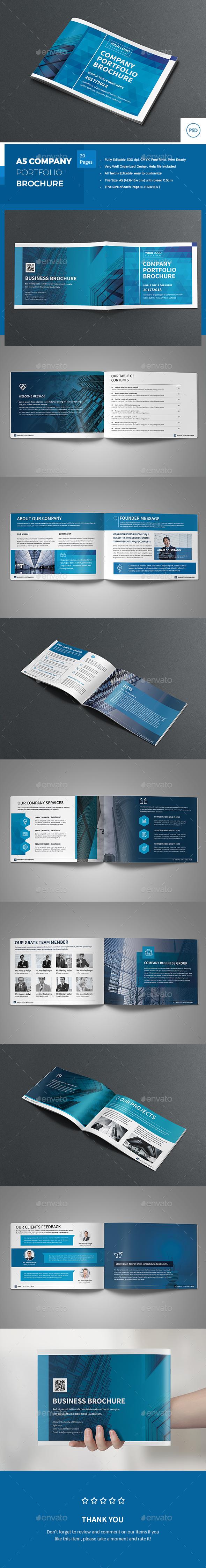 A5 Company Portfolio Brochure - Corporate Brochures