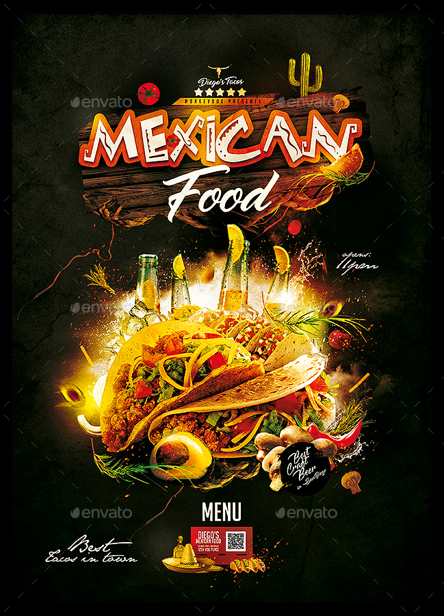 mexican restaurant menu by monkeybox graphicriver