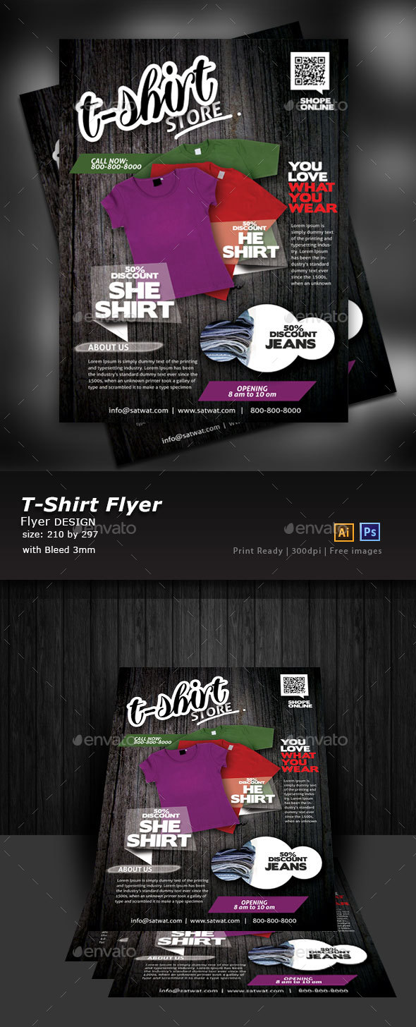 T-Shirt Shop Flyer - Flyers Print Templates