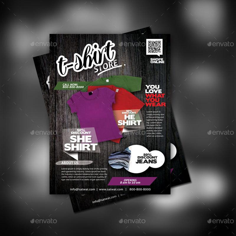 T-Shirt Shop Flyer