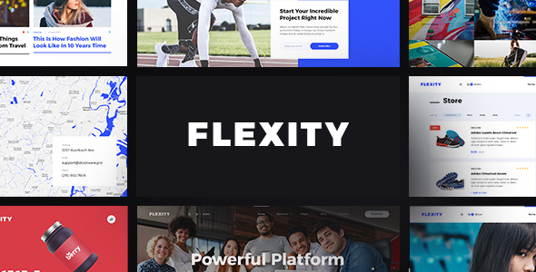 Flexity - Multi-Purpose PSD Template - Corporate PSD Templates