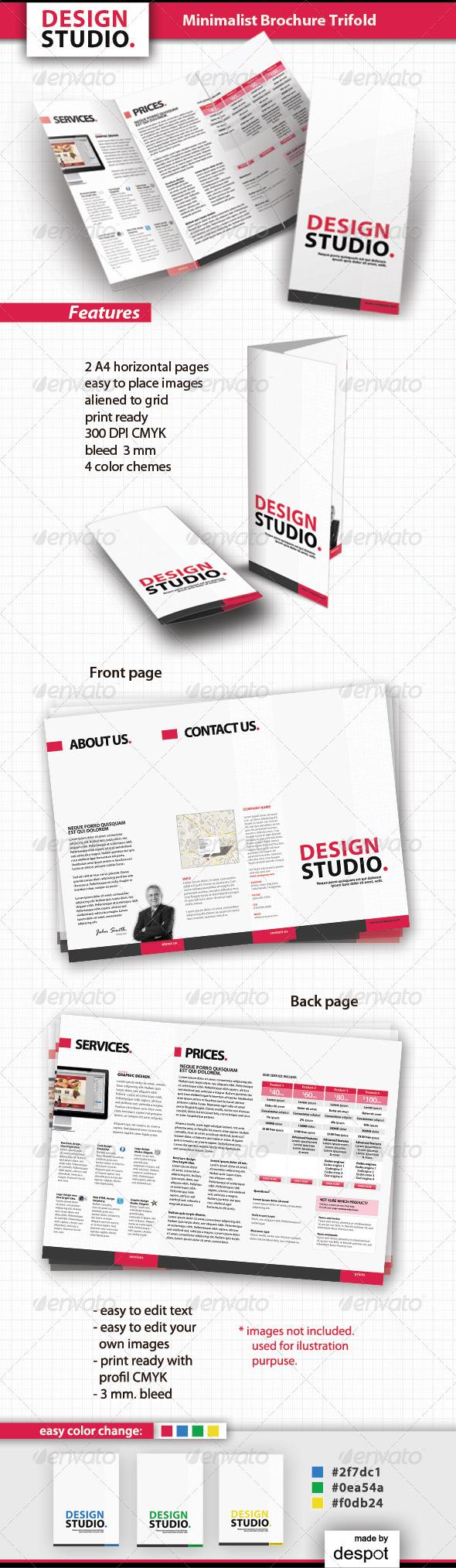 Minimalist Brochure Trifold - Corporate Brochures